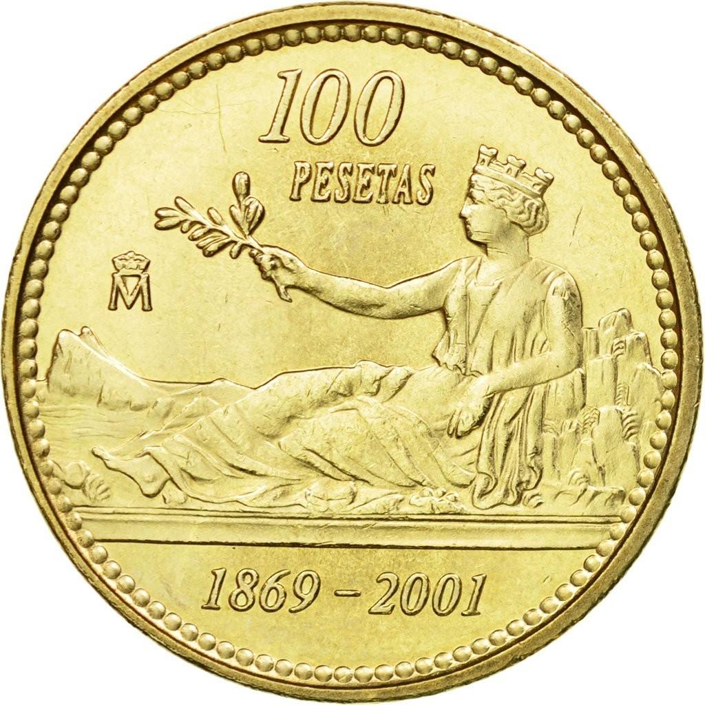 Испания 100 песет 2001 года код 22470