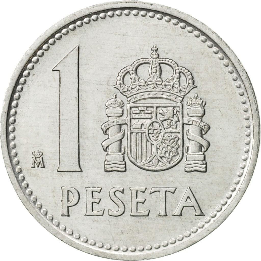 Испания 1 песета 1982-1989 годов код 22471