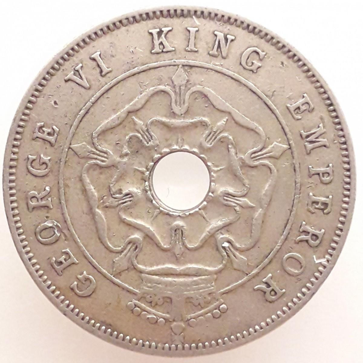 Родезия 1 пенни 1937–1942 годов код 22618