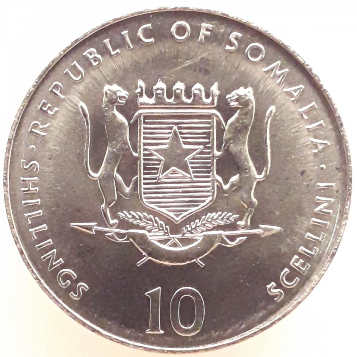 Сомали 10 шиллингов 2000 года - год Козы код 22626