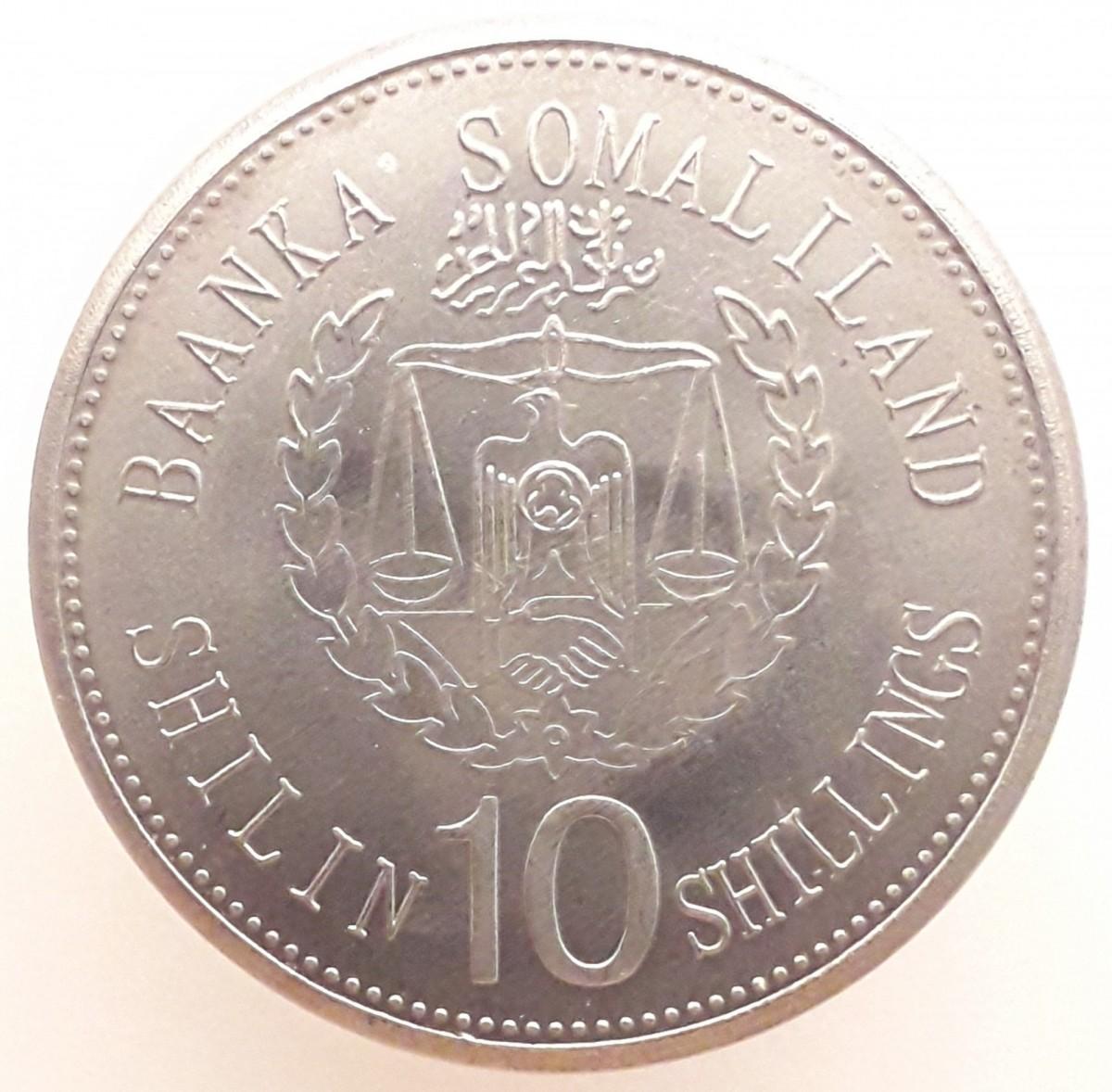 Сомалиленд 10 шиллингов 2012 года - Кролик код 22640