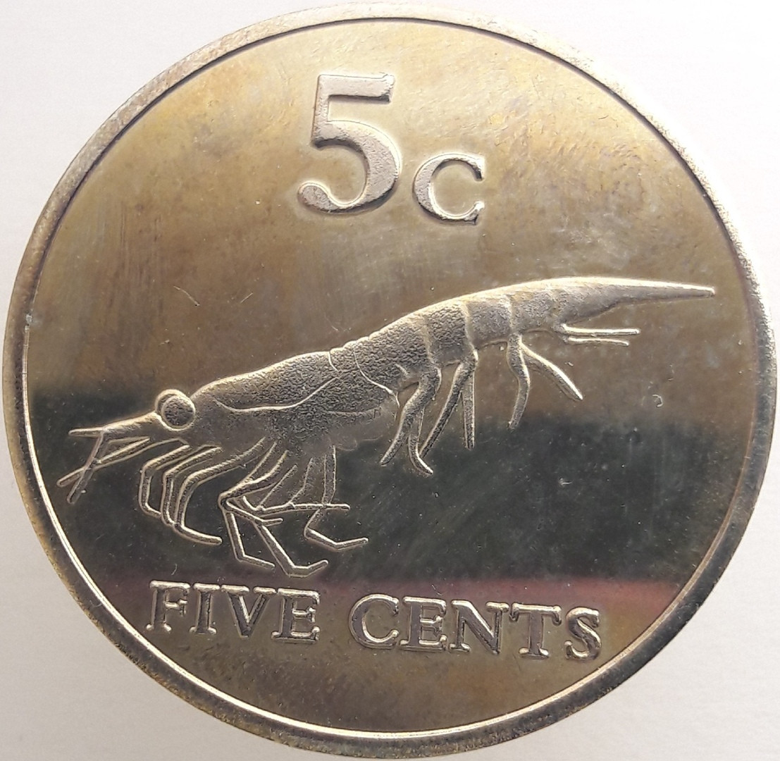 Земля Мэри Бэрд 5 центов 2012 года Креветка код 22891