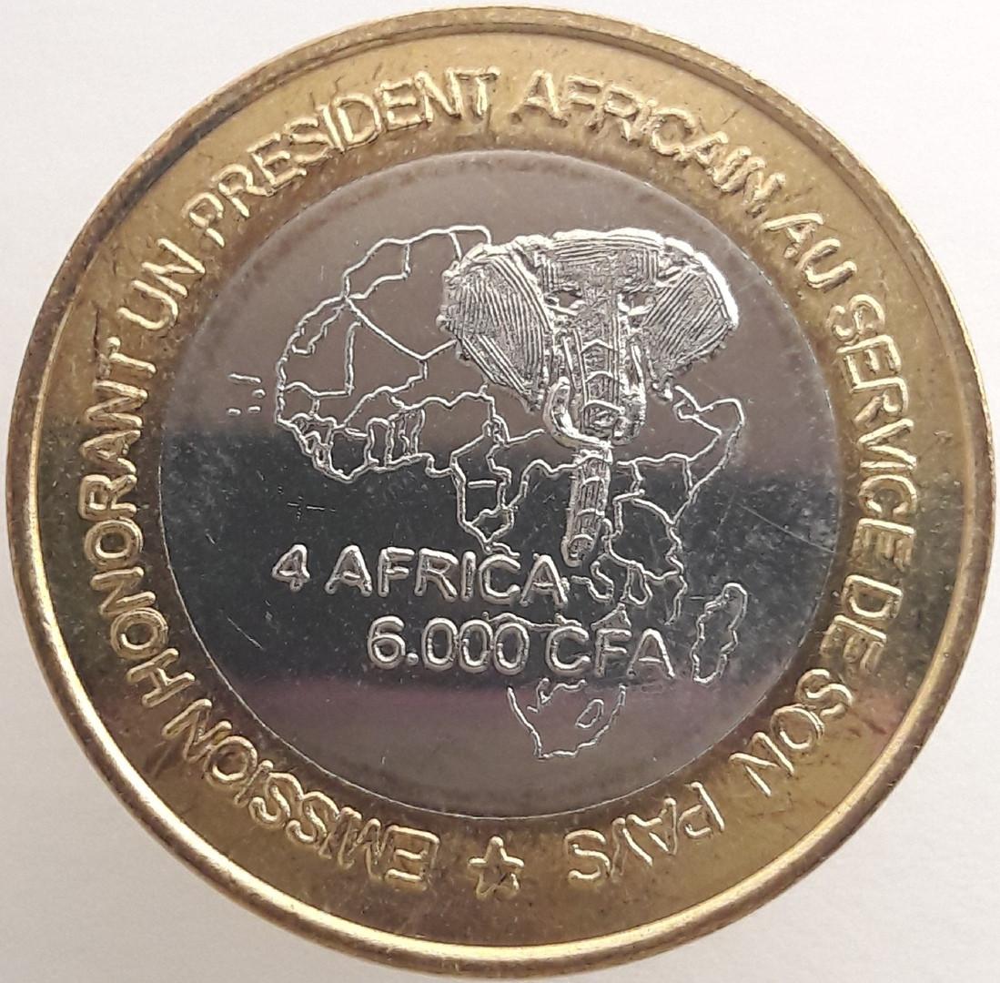 Гвинея 6000 франков КФА 2003 года Президент Лансана Конте код 22894