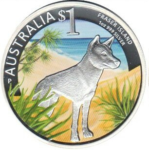 Австралия 1 доллар 2013 года Собака. Цветная эмаль код Н77010
