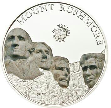 Палау 5 долларов 2011 года Гора Рашмор