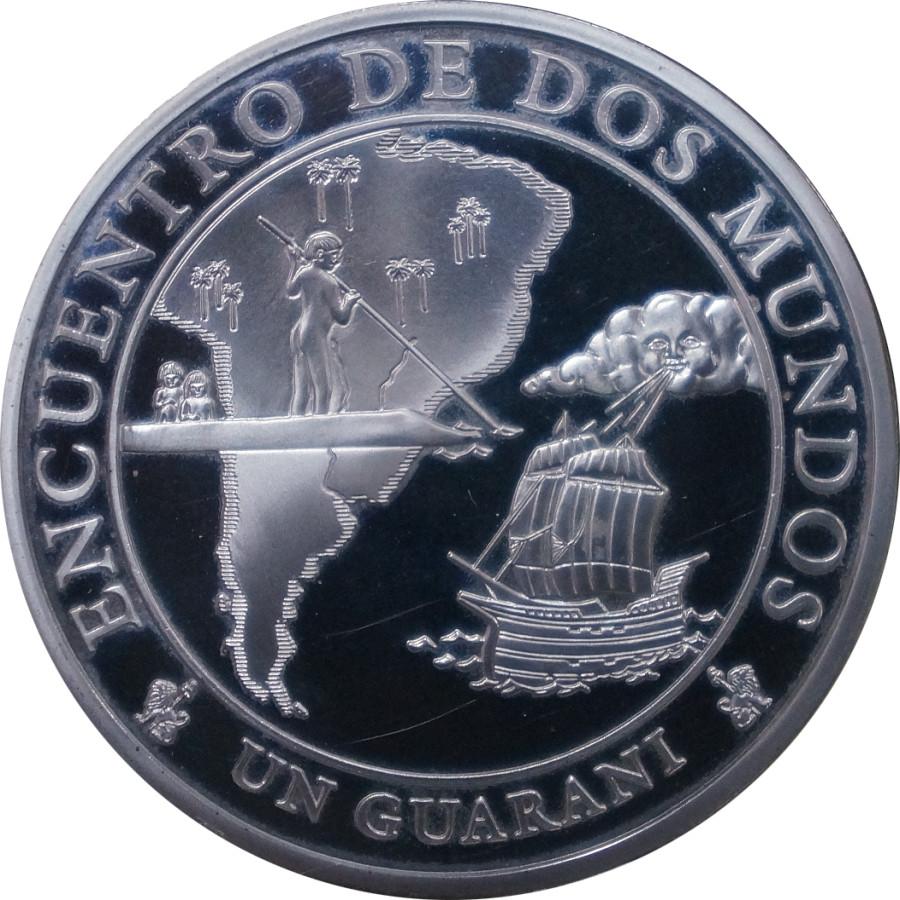 Парагвай 1 гуарани 2002 года Мировая встреча код Н77085