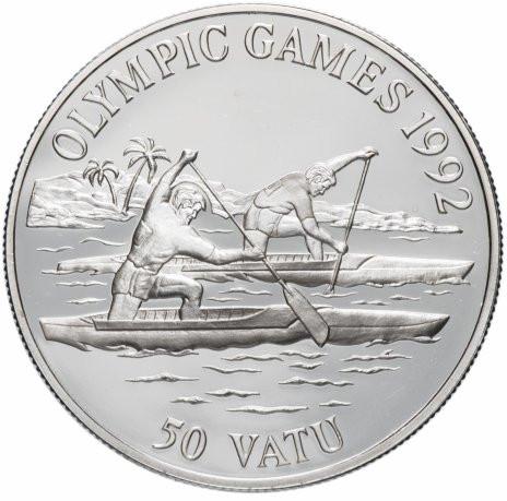 Вануату 50 вату 1992 года Олимпиада в Барселоне 1992 года. Гребля на каноэ код 77279