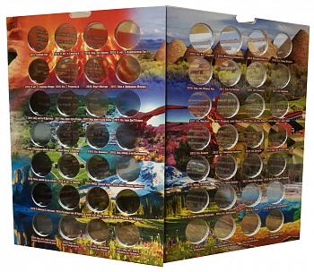 Альбом-коррекс для 25-центовых монет США 2010-2021 годов. Прекрасная Америка