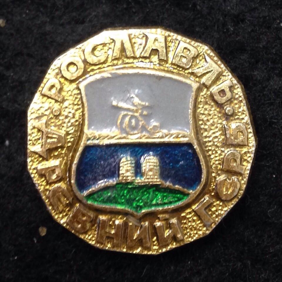 Значок город Рославль серия Древний герб код 11053